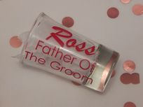 Personalised Wedding Shot Glass Name & Role